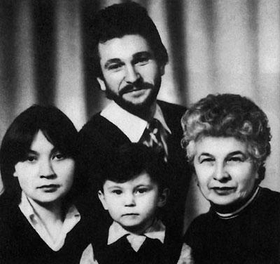Игорь Тальков с семьёй